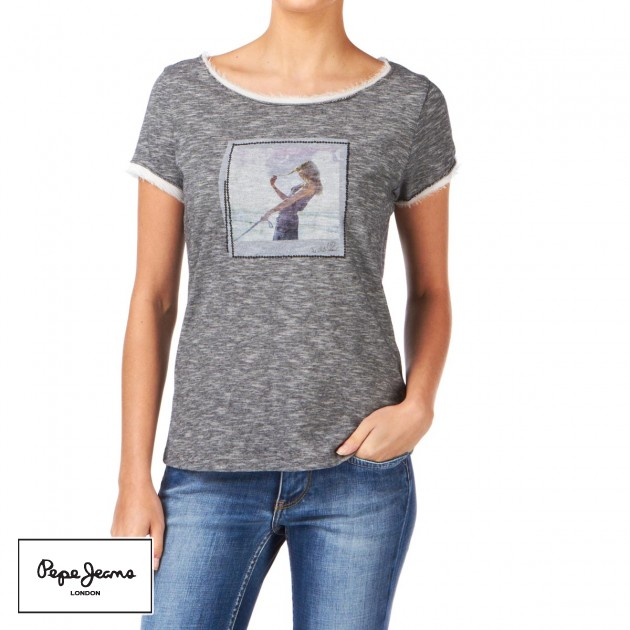 Pepe jeans womens pepe jeans antibes t shirt ocean for Buy denim shirts online