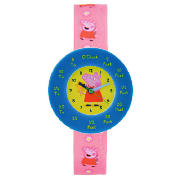 Peppa Pig time teacher watch. Comes with two interchangeable time teaching discs. - CLICK FOR MORE INFORMATION
