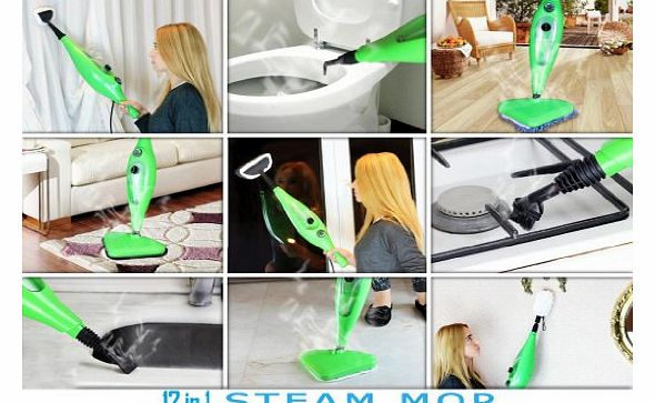 Pepper Tree 12 in 1 Steam Mop 1300W Super Heated Multi Upright amp; Handheld Steamer Cleaner Sterilizer product image