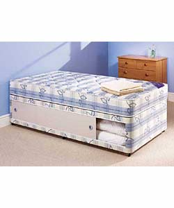 Perfecta beds divan beds for Single divan bed with slide storage