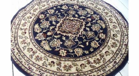 Persian type Persian style circle rug in Navy. 133cm. product image