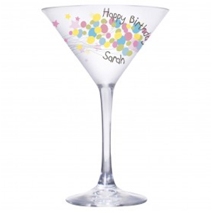 personalised Balloons Cocktail Glass product image