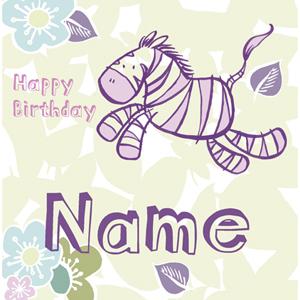 zebra birthday card - bearerofbadnews.com Bearer of Bad