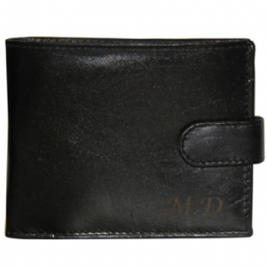 Personalised Black Leather Wallet product image