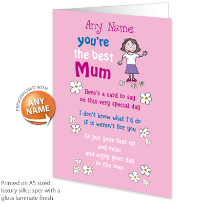 personalised card birthday mum personalised card birthday boy ...