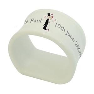 Personalised Cartoon Couple Napkin Ring product image