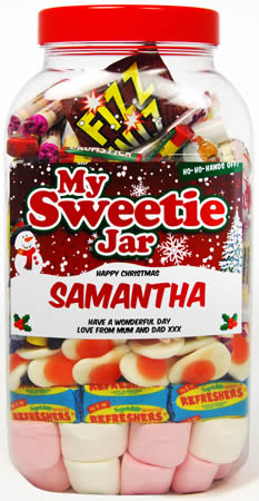 Christmas Sweetie Jar - Large