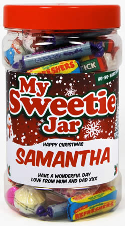 Christmas Sweetie Jar - Small