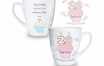 Personalised Cupcake Numbers Small Latte product image