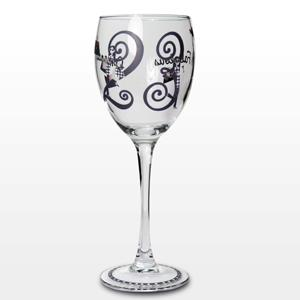 Personalised Fabulous Numbers Wine Glass product image