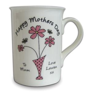 Personalised Flowers in Vase Message Mug product image
