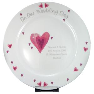 Personalised Heart Wedding Plate product image
