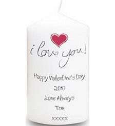Personalised I Love You Candle product image
