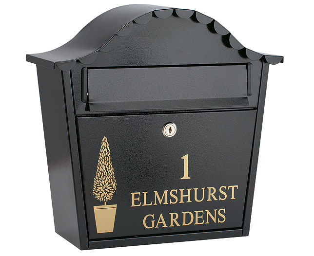 personalised letter box black review compare prices With personalized letter box