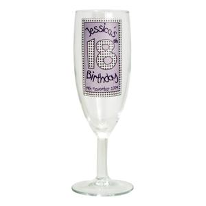 Personalised Lilac Happy Birthday Flute product image