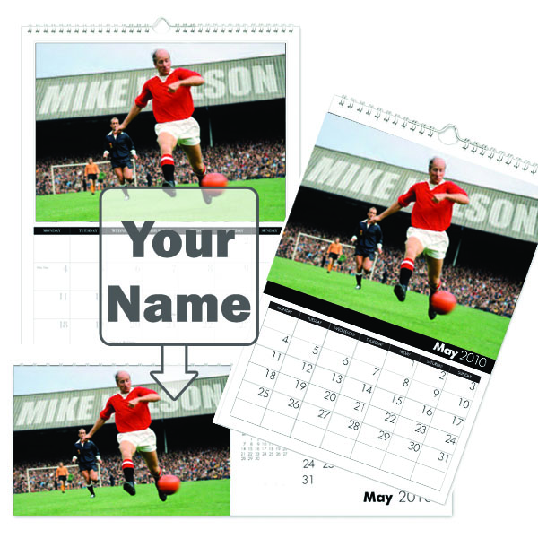 Manchester United Legends Calendar A4