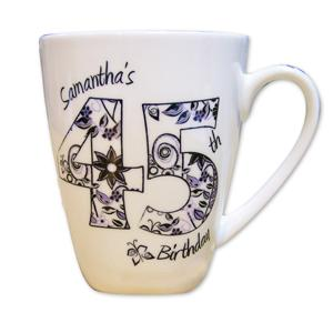 Personalised Numbers and Pattern Mug product image