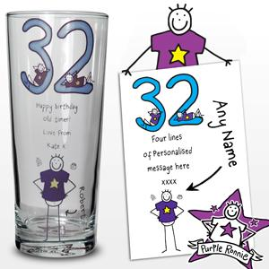 Personalised Purple Ronnie Age Middle Male Pilsner product image