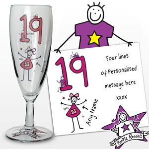 Personalised Purple Ronnie Age Young Female Flute product image