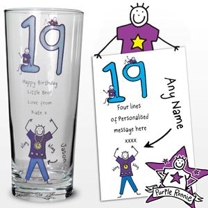 Personalised Purple Ronnie Age Young Male Pilsner product image