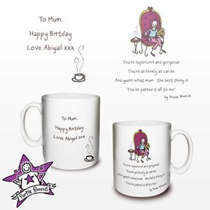 personalised Purple Ronnie Brilliant Mum Mug product image