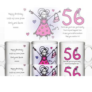 Personalised Purple Ronnie Elder Female Mug product image