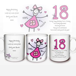 Personalised Purple Ronnie Female 18th Mug product image