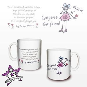 personalised Purple Ronnie Girlfriend Mug product image