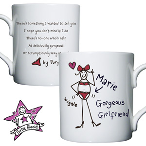 personalised Purple Ronnie Gorgeous Girlfriend Mug product image