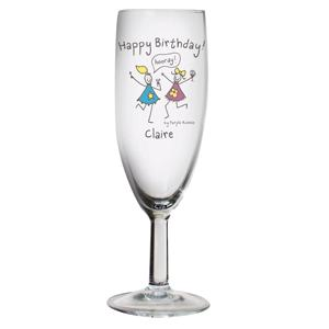 Personalised Purple Ronnie Happy Birthday Flute product image