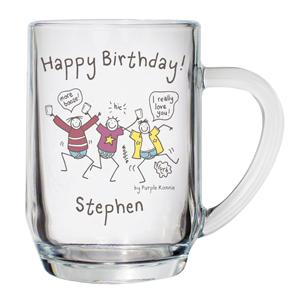 Personalised Purple Ronnie Happy Birthday Tankard product image