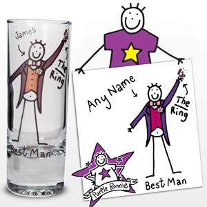 Personalised Purple Ronnie Wedding Best Man Shot product image