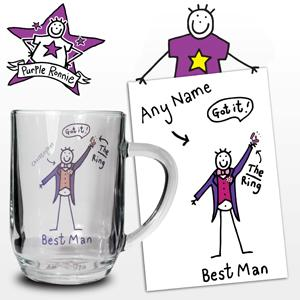 Personalised Purple Ronnie Wedding Best Man product image