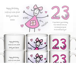 Personalised Purple Ronnie Young Female Mug product image
