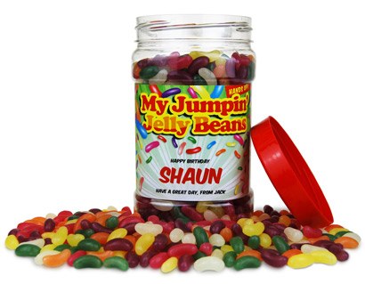 Personalised Sweetie Jar - Jelly Beans product image