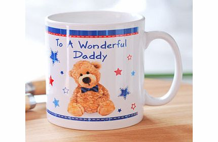 Personalised Teddy Bow Tie Mug product image