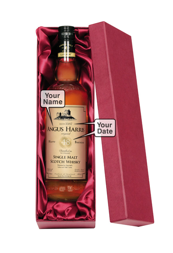 Personalised Usher Malt Whisky Boxed