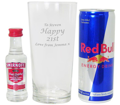 17.95. personalised Vodka and Redbull Set One of the most requested...