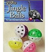 Pet Love Jingle Balls 4 Pack Cat Toy