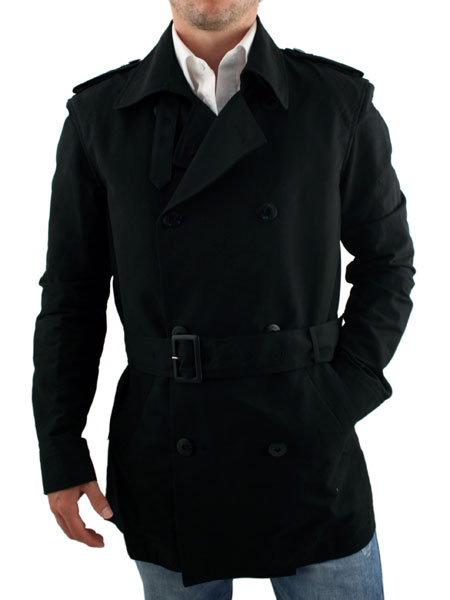 Peter Werth Black Cropped Trench Coat