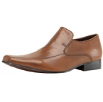 Mens Centre Seam Leather Slip On Shoe Tan