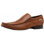 Mens Mocc Toe Slip On Shoe Tan