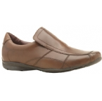 Mens Slip On Casual Shoe Tan
