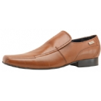 Mens Stitch Detail Slip On Shoe Tan