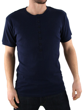 Peter Werth Navy Grandad T-Shirt product image