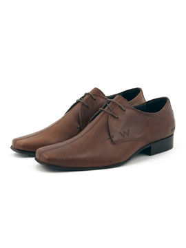 Peter Werth Leather Lace-Up Shoes - Mens leather shoes from Peter Werth - Square toe lace up shoe - Stitched centre seam - Embossed Peter Werth logo - Product Code: PW24706TANAW - Material: Leather - Colour: Tan Shoe Sizing (Approx): 7/EUR 41, 8/EUR  - CLICK FOR MORE INFORMATION