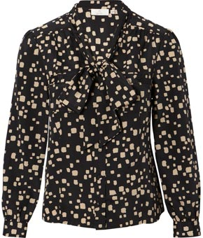 Petite Spotted Tie Front Blouse product image