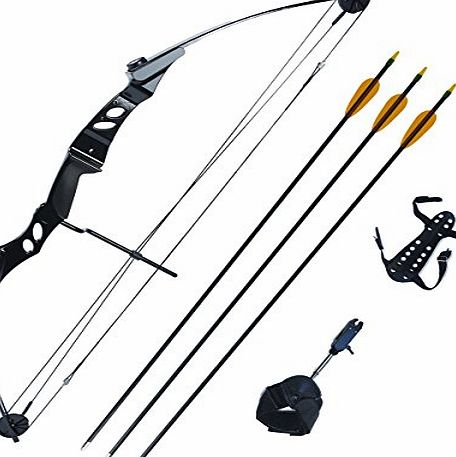 Petron 55lb Stealth Adult Compound Bow kit with Arrows amp; Release Aid