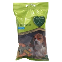 Puppy Mini Bones Treats 140gm by Pets at Home