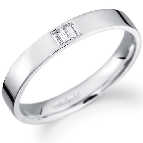 PH Rings 3mm Baguette Diamond